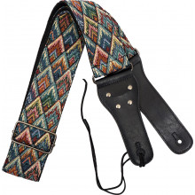 Viking VGS-51 Woven Guitar Strap. Diamonds