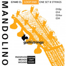 Galli G1430CL Mandolin Strings, Ph/Bz. Light