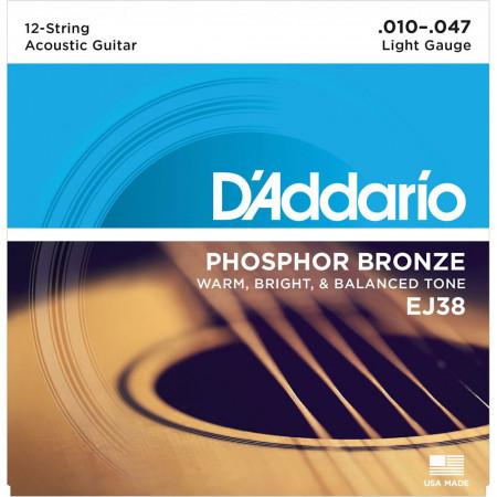 D'Addario EJ38 12-String Guitar Strings