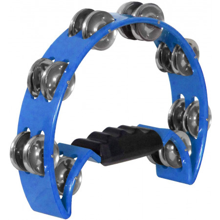 Atlas Half Moon Tambourine, Blue