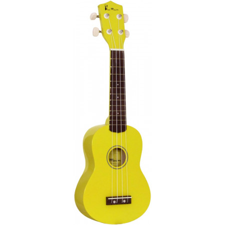 Blue Moon BU-02 Coloured Soprano Uke, Yellow