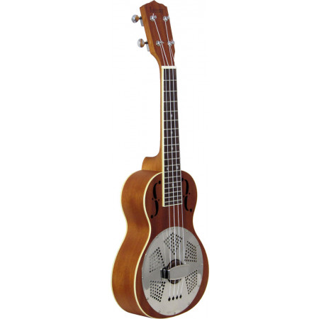 Ashbury AU-100 Concert Resonator Ukulele, Wood