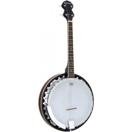 Ashbury AB-35TS Tenor Banjo, 17 Fret, Mahogany