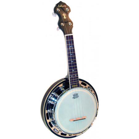 Ashbury AB-48 Ukulele Banjo, Resonator, Mah