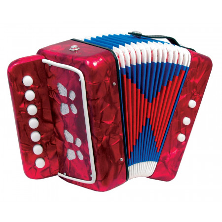Scarlatti Child's 7 Key Melodeon, Red
