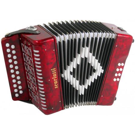 Scarlatti B/C Melodeon, Red