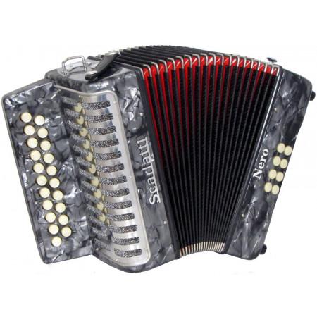 Scarlatti Nero G/C Melodeon, Czech Durall Reed