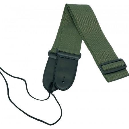 Viking Webbing Guitar Strap, Green