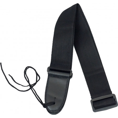 Viking Webbing Guitar Strap, Black