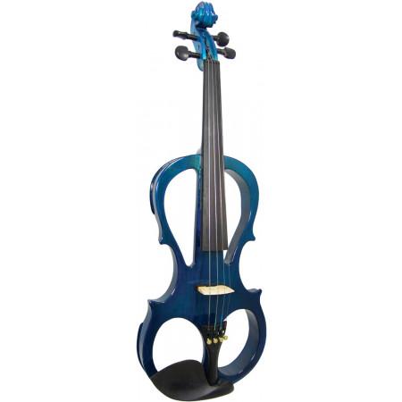 Valentino VE-008 Electric Frame Violin, Blue