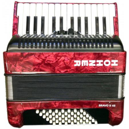 Hohner Bravo 48 Bass Accordion, Red