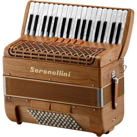 Serenellini Solo 72 Bass Accordion, Cherry