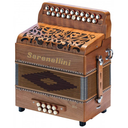 Serenellini Selli D/G Melodeon, 2 voice