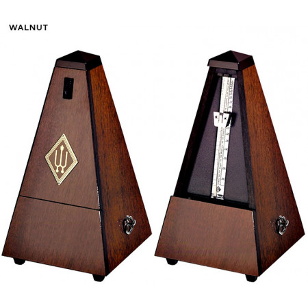 Wittner 2183 Metronome, With Bell. Walnut